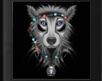 Glass Wolf Coasters