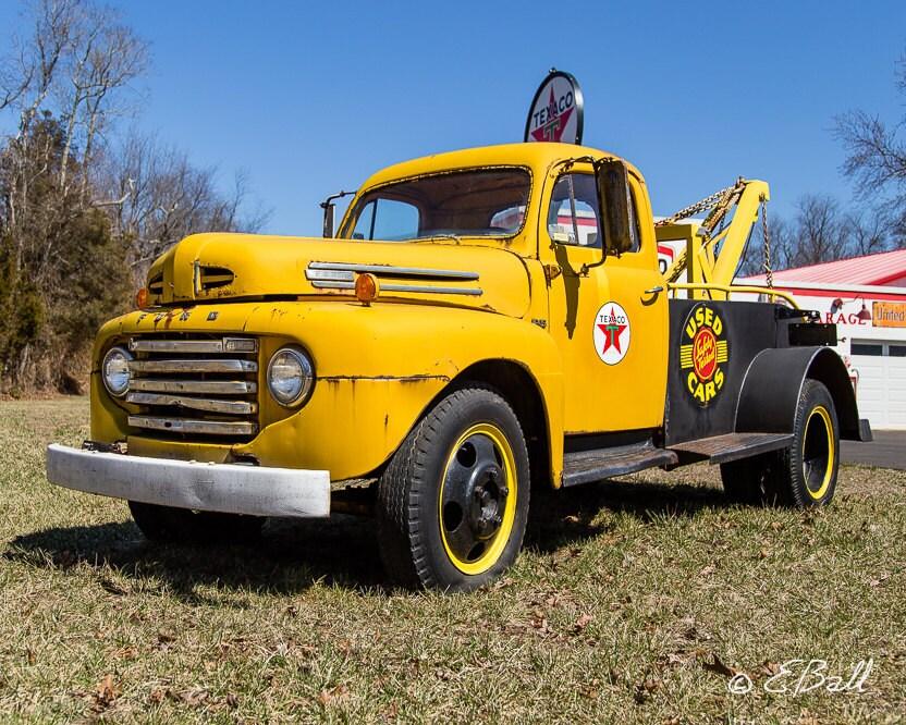Classic Ford Texaco Tow Truck Oil Art Photo Print , Americana ...