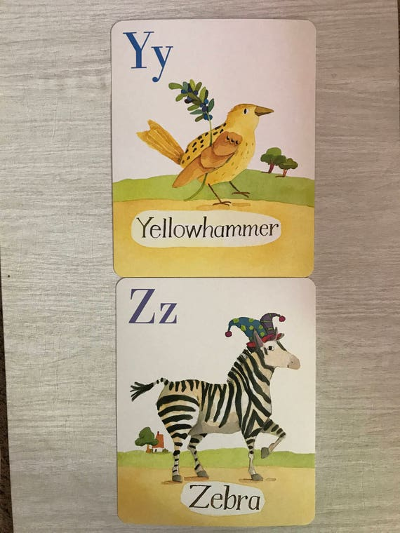 eeBoo Animal Parade Alphabet Cards Wall Art Sets of 2 or 3