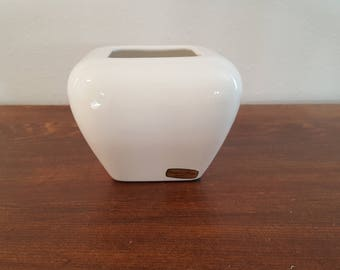 White Haeger Square Planter