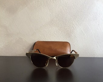 80s Handmade Metal Sunglasses Made in France