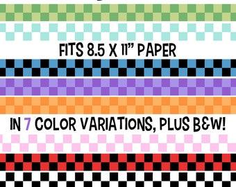 Checkered Border Clip Art, Checkerboard Clipart, Checker Frame, Checkered Background, Racing Clip Art, Chess Clip Art, Checkers Clipart