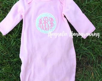 Baby Boutique Pink Newborn Gown