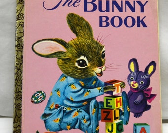 VTG The Bunny Book Little Golden Book 1968 Edition by Patsy Scarry