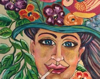 Gaia Takes 10 -  Original Acrylic Painting