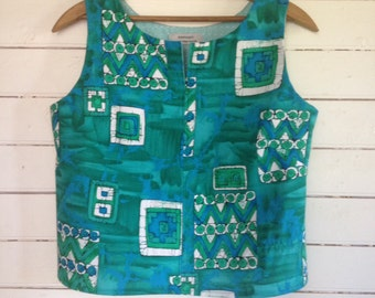 summer shirt sleeveless top - easy fit Large - Aloha - get beachy!