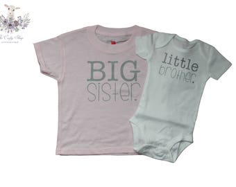 Big Sister Little Brother Tee Set