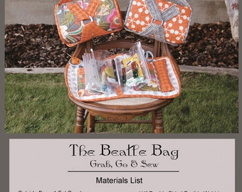 Beatle Bag Sewing Pattern by Abbey Lane Quilts with page inserts. ALQ 186