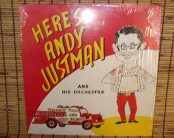 Vintage Polka Record - Here's Andy Justman And His Orchestra - 1960s