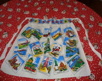 Colorful Vintage cotton Kitschy Canada Apron