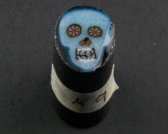 Bleu Skull par Greg Chase Murrine Boro canne 9 grammes - 144 K