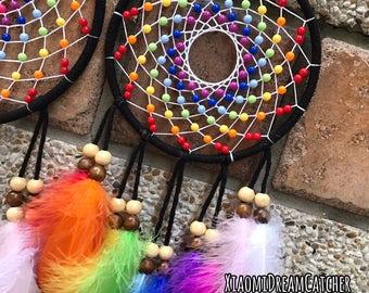 Rainbow (M) -  Handmade Dreamcatcher