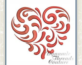 XD000144 Swirly Heart
