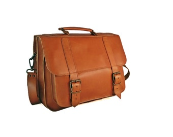 Leather Messenger Bag - Women. Full Grain Leather Briefcase, 13 inch Laptop Bag. Handmade in Greece. 5 COLORS Available!