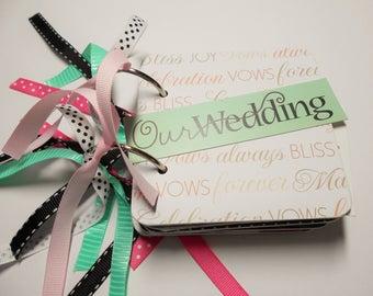 Wedding Mini Scrapbook Album, Wedding Mini Album, Wedding Scrapbook Album, Marriage Scrapbook, Wedding Photo Album, Wedding Bragbook