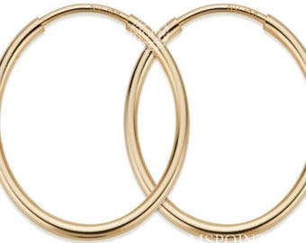 2 Pcs, 14k Gold Filled Hoop Earrings (GP-GF4003800)