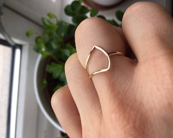 Bow ring - Rose Gold Bow Ring - Dainty Ring - Infinity