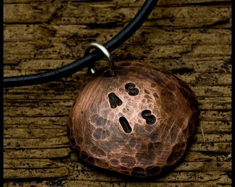 As Is - sterling silver and copper hand-hammered pendant necklace