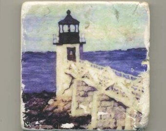 Marshall Point Lighthouse in Maine Original Coaster