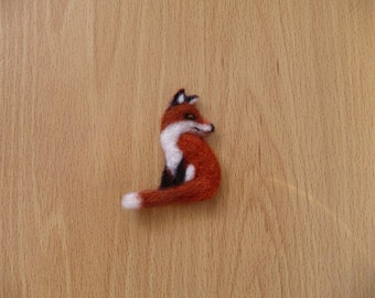Red fox, Fox Brooch, fox, Brooch, felted fox, Wildlife, Woodland, Animal