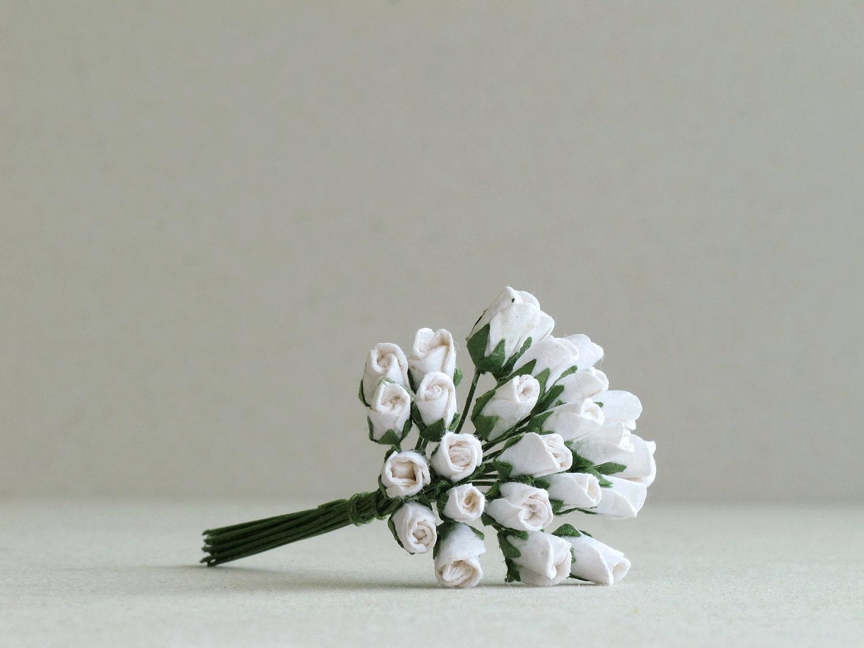 5mm weiß Papier Rose Knospen 25 maulbeerbaumpapierblüten mit