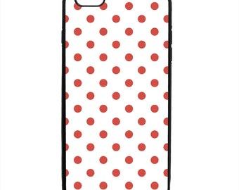 Polka Dot Print Phone Case Samsung Galaxy S5 S6 S7 S8 S9 Note Edge iPhone 4 4S 5 5S 5C 6 6S 7 7S 8 8S X SE Plus