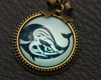 Whale Necklace, 2525C