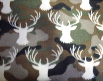 1 Set of Came/Deer Head Print, Seat Covers and Steering Wheel Cover Custom Made.