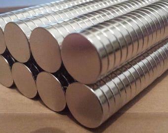 Powerful 14mm x 3mm neodymium N50 round magnets