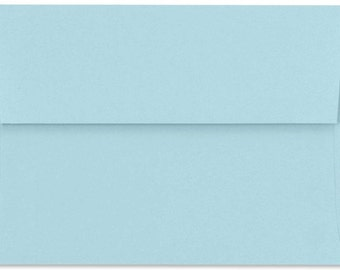 Light Blue Envelopes - Set of 32 Powder Blue A7 Envelopes - Perfect for 5x7 Invitations and Cards