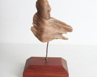 Driftwood Wood Sculpture on Stand