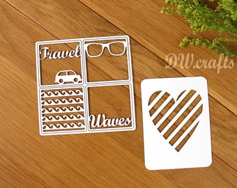 Time to travel Chipboards  for Project Life Summer, mixmedia,  scrapbooking