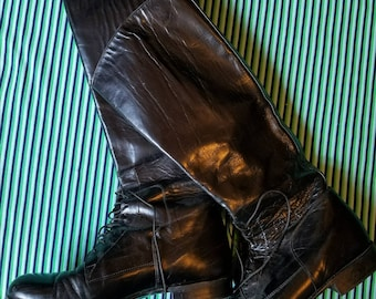Justin Leather Riding Boots