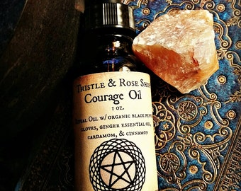 Courage Oil, Ritual, Witchcraft, Anointing oils
