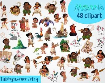 48 Moana Clipart - Moana Clipart - Moana PNG Images - Moana Scrapbooking - Moana - Moana printable - Disney Moana - Moana clip art - Maui