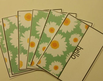 Set of 6  Handmade Blank Note Cards. Just Because. Thinking of You. Blank Cards.