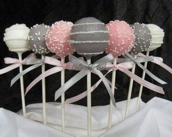 Ready to Pop Favors: Ready to Pop Baby Shower Cake Pops made with High Quality Ingredients