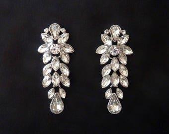 Art Deco Earrings Jewelry Wedding Earrings Bridal Earrings Great Gatsby Earrings Art Nouveau Earrings Vintage Earring Downton Downtown Abbey