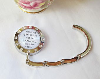 Anne of Green Gables Quote Hanger - Purse Bag Hook Accessories - Kindred Spirits Best Friends