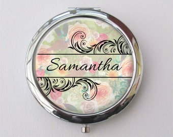 Bridesmaid Gift, Personalized Compact Mirror, Purse Mirror, Compact Set