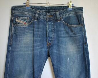 Vintage DIESEL JEANS , men's jeans with advance patina, size W 32  ..........(010)
