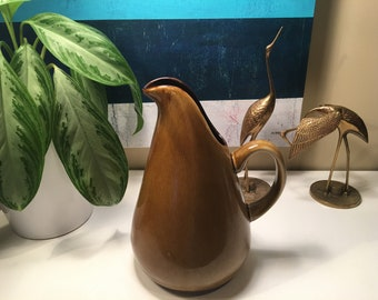 Oneida Reproduction of  Russel Wright's American Modern Water Pitcher originally in Brown Bean now Chicory