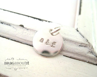 A La Carte . Hand Stamped Sterling Silver Small Disc . Brag About It