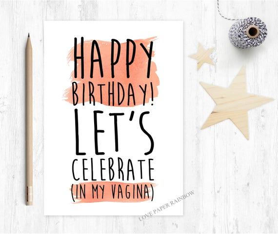 rude boyfriend birthday card, naughty boyfriend birthday card, rude husband birthday card, rude birthday card, vagina birthday card