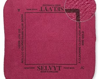 "Selvyt  Brand Polishing Cloth for precious metals 10x10"" 3286"