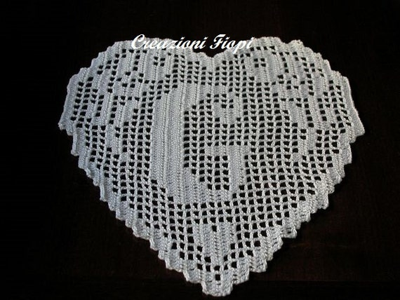 Pattern Crochet Filet Monogram Word G Heart Pdf