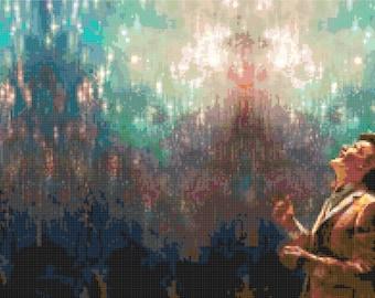 Matt Smith Doctor Who Cross Stitch Pattern