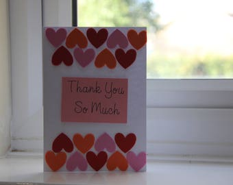 Thank you card handmade - can be customised - perfect gift - * fast shipping