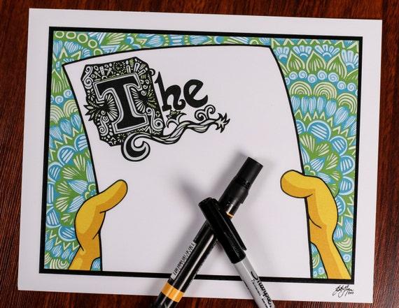 Zentangle - Spongebob Thoughts