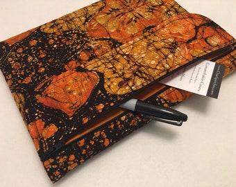 Composition Notebook Cover, Orange Batik